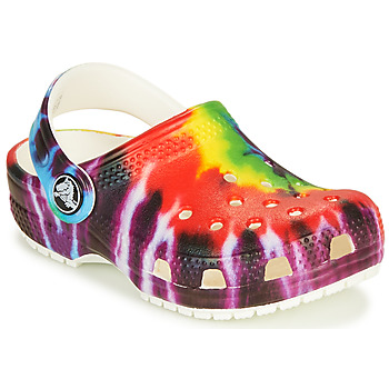 Scarpe Unisex bambino Zoccoli Crocs CLASSIC TIE DYE GRAPHIC CLOG K Multicolore