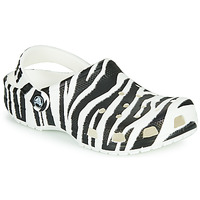 Scarpe Donna Zoccoli Crocs CLASSIC ANIMAL PRINT CLOG Zebra