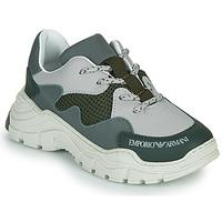 Scarpe Unisex bambino Sneakers basse Emporio Armani XYX008-XOI34 Verde / Grigio