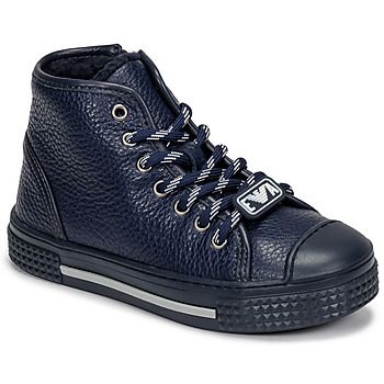 Scarpe Unisex bambino Sneakers alte Emporio Armani XYZ004-XOI25 Marine