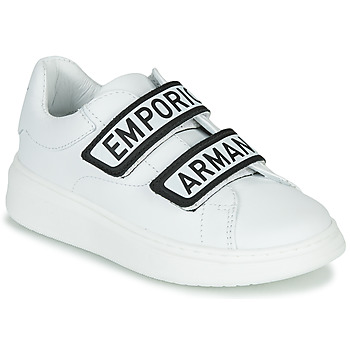 Scarpe Unisex bambino Sneakers basse Emporio Armani XYX007-XCC70 Bianco / Nero