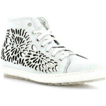 Scarpe Donna Sneakers alte Keys 4965 Bianco