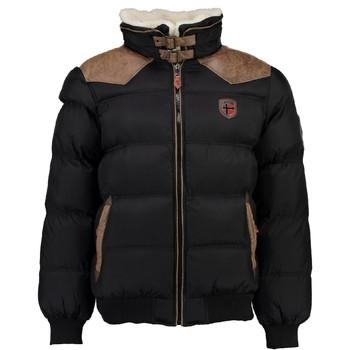 Abbigliamento Bambino Piumini Geographical Norway ABRAMOVITCH BOY Nero