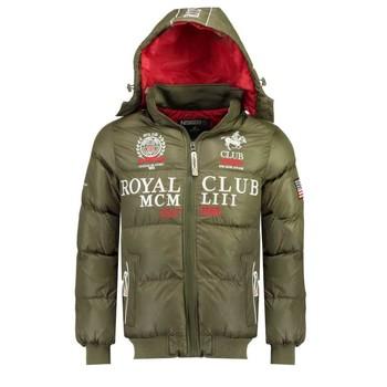 Abbigliamento Bambino Piumini Geographical Norway AVALANCHE BOY Kaki