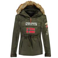 Abbigliamento Bambino Parka Geographical Norway BARMAN BOY Kaki