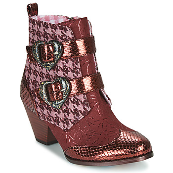 Scarpe Donna Stivaletti Irregular Choice TOO HEARTS Bordeaux