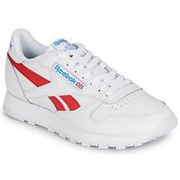 Scarpe Sneakers basse Reebok Classic CL LTHR Bianco / Rosso