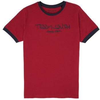 Abbigliamento Bambino T-shirt maniche corte Teddy Smith TICLASS 3 Rosso