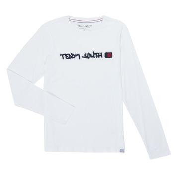 Abbigliamento Bambino T-shirts a maniche lunghe Teddy Smith CLAP Bianco