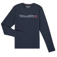 Abbigliamento Bambino T-shirts a maniche lunghe Teddy Smith CLAP Marine