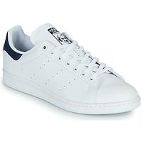 Scarpe Sneakers basse adidas Originals STAN SMITH VEGAN Bianco / Blu