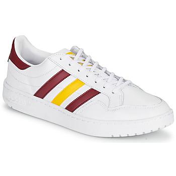 Scarpe Sneakers basse adidas Originals TEAM COURT Bianco / Bordeaux / Giallo