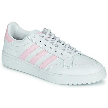 Scarpe Donna Sneakers basse adidas Originals TEAM COURT W Bianco / Rosa