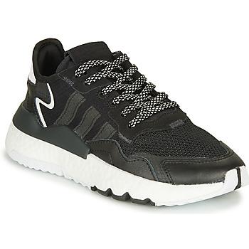 Scarpe Unisex bambino Sneakers basse adidas Originals NITE JOGGER J Nero