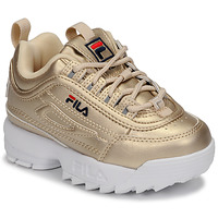 Scarpe Bambina Sneakers basse Fila DISRUPTOR F INFANTS Oro