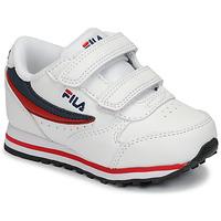 Scarpe Unisex bambino Sneakers basse Fila ORBIT VELCRO INFANTS Bianco / Blu