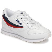Scarpe Unisex bambino Sneakers basse Fila ORBIT LOW KIDS Bianco / Blu