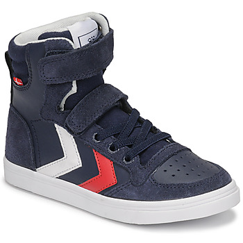 Scarpe Unisex bambino Sneakers alte Hummel SLIMMER STADIL HIGH JR Blu