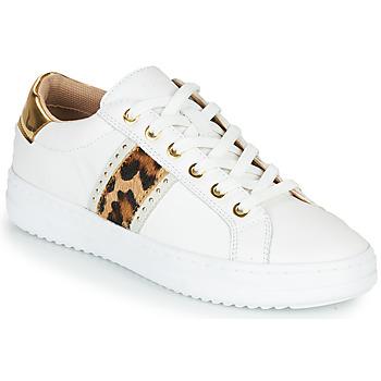Scarpe Donna Sneakers basse Geox PONTOISE Bianco / Leopard
