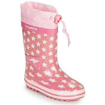 Scarpe Bambina Stivali da pioggia Kangaroos K-RAIN Rosa