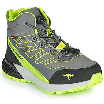 Scarpe Bambino Sneakers alte Kangaroos K-SCOUT RTX Grigio / Verde