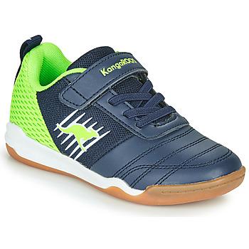 Scarpe Bambino Sneakers basse Kangaroos SUPER COURT EV Blu / Verde