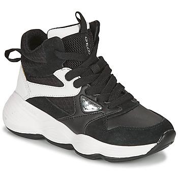 Scarpe Bambina Sneakers alte Geox BUBBLEX Nero / Bianco