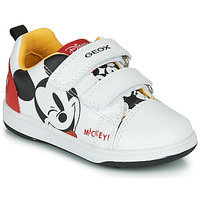 Scarpe Bambino Sneakers basse Geox NEW FLICK MICKEY Bianco / Rosso