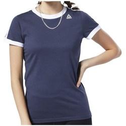 Abbigliamento Donna T-shirt maniche corte Reebok Sport Linear Logo Tee Blu marino