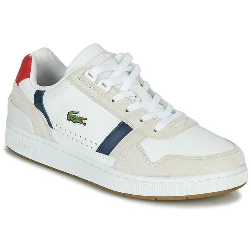 Scarpe Donna Sneakers basse Lacoste T-CLIP 0120 2 SFA Bianco / Marine / Rosso