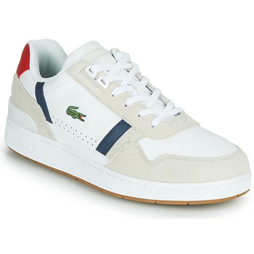 Scarpe Uomo Sneakers basse Lacoste T-CLIP 0120 2 SMA Bianco / Marine / Rosso