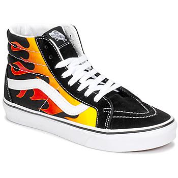 Scarpe Sneakers alte Vans SK8-HI REISSUE Nero / Flame