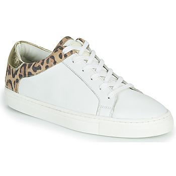 Scarpe Donna Sneakers basse Les Tropéziennes par M Belarbi LOUANE Bianco / Leopard