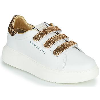 Scarpe Donna Sneakers basse Serafini J.CONNORS Bianco / Oro