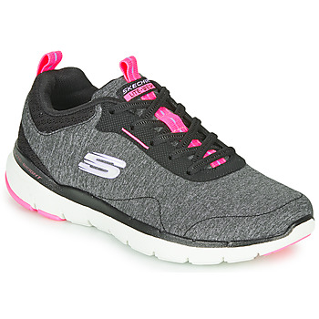 Scarpe Donna Fitness / Training Skechers FLEX APPEAL 3.0 Grigio / Nero / Rosa