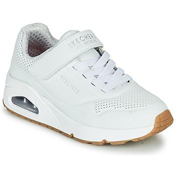 Scarpe Unisex bambino Sneakers basse Skechers UNO Bianco