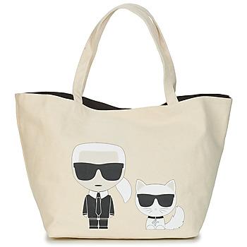 Borse Donna Tote bag / Borsa shopping Karl Lagerfeld K/IKONIK KARL & CHOUPETTE TOTE Nero