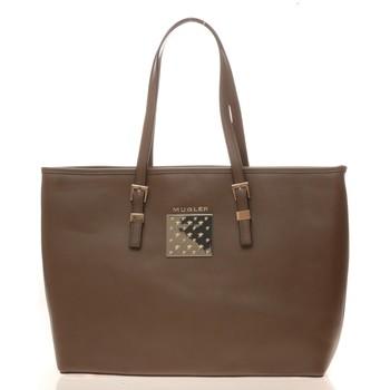 Borse Donna Tote bag / Borsa shopping Thierry Mugler Sac Eclat 5 Taupe Marrone