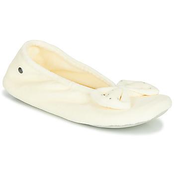 Scarpe Donna Pantofole Isotoner 95991 Ivorio