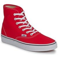 Scarpe Donna Sneakers alte Vans AUTHENTIC HI Rosso