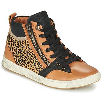 Scarpe Donna Sneakers alte Pataugas JULIA/PO F4F Cognac / Leopard