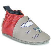 Scarpe Bambino Pantofole Robeez HAPPY WOLF Grigio / Rosso