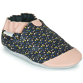 Scarpe Bambina Pantofole Robeez RAINY LOVE Nero / Rosa