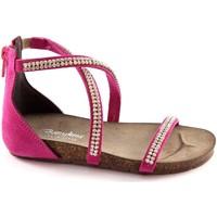 Scarpe Bambina Sandali Bottega Artigiana 3977 baby FUXIA sandali bambina zip tallone strass Rosa