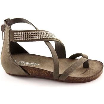 Scarpe Bambino Sandali Bottega Artigiana 3979 baby cenere sandali bambina infradito zip tallone strass Grigio