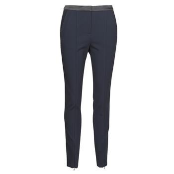 Abbigliamento Donna Pantaloni 5 tasche Karl Lagerfeld PUNTO PANTS W/ LOGO TAPE Marine / Nero