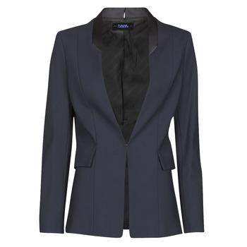 Abbigliamento Donna Giacche / Blazer Karl Lagerfeld PUNTO JACKET W/ SATIN LAPEL Marine / Nero