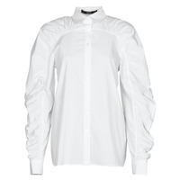 Abbigliamento Donna Camicie Karl Lagerfeld POPLIN BLOUSE W/ GATHERING Bianco