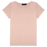 Abbigliamento Bambina T-shirt maniche corte Deeluxe GLITTER Rosa