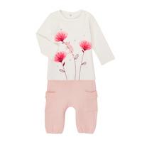 Abbigliamento Bambina Completo Catimini CR36001-11 Bianco / Rosa